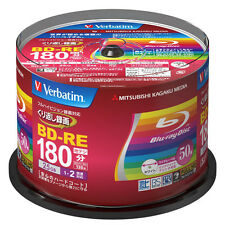 New 50 Verbatim Bluray Rewritable BD-RE 25GB Inkjet Printable Blu-ray Blank Disc