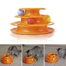 NEW Pet Cat Toys Interactive Crazy Ball Disk Amusement Plate Trilaminar Toy