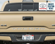 Toyota Tacoma Tailgate Chrome Vinyl Letter Decals Stickers