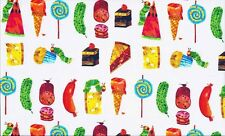 "The Very Hungry Caterpillar - FOOD cotton fabric.Size 22"" x 18"" larger available"