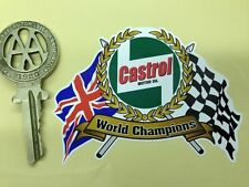CASTROL World Champions Flags Scroll car bike sticker