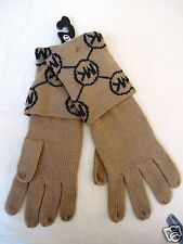 NWT Michael Kors Women's Knit Acrylic Latte Gloves (OS)