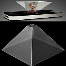"3D Holographic Display Pyramid Projector Video For 3.5-6.5"" Mobile Smart Phone"