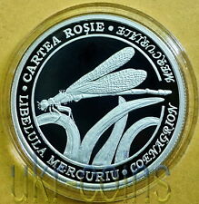 2013 Moldova 1/2 Oz Silver Coin Dragonfly Insect WWF Red Book Wildlife Proof Unc