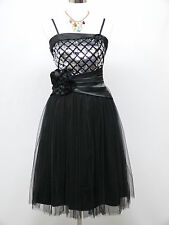 Cherlone Black Prom Ball Evening Bridesmaid Wedding Formal Gown Dress Size 12