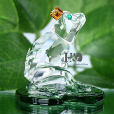 Crystal Glass Frog Animal Figurines Paperweight Wedding Collectibles Gifts Decor