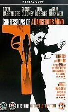 Confessions of a Dangerous Mind (2002) Dick Clark, Sam Rockwell, Good VHS, ,