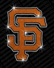 MLB - San Francisco Giants - Bling - Iron-on Glitter Vinyl & Rhinestone Transfer