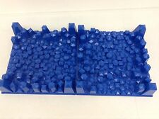 LEGO X2 Pcs Blue Raised Baseplate Ocean Floor Water Sea Crystals RARE 32x32
