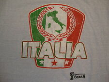 Italia Italy Fifa World Cup Soccer Team Italian Vacation Souvenir Blue T Shirt L