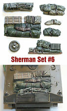 1/35 scale resin Sherman tank Engine Deck and Stowage Sets #6