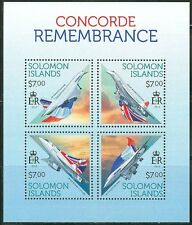 SOLOMON ISLANDS AIRPLANE CONCORDE REMEMBRANCE SHEET OF FOUR AS SHOWN
