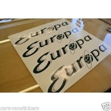 STERLING Europa Caravan Name Sticker Decal Graphic - SET OF 4