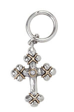 WAXING POETIC FAITH EVERLASTING CROSS PENDANT CHARM Sterling Silver Bronze