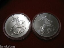Russia 2015 SAINT GEORGE THE VICTORIOUS SILVER Bullion 2 coins -SET OF TWO MINTS