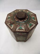 Lovely Vintage Tea Caddy/Tin  Egyptian Scenes/Theme