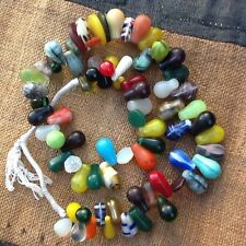 MALI LARGE AFRICA TRADE BEADS  SONINKE TRIBE WEDDING BEADS NECKLACE