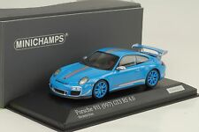 2011 Porsche 911 997 GT3 RS 4.0 Riveria blau 1:43 Minichamps Diecast 1/200pcs