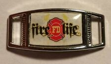 Lot Of 2 FIREFIGHTER Thin Red Line FIRE LIFE Shoelace Charms For Paracord Jobs