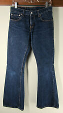 vtg Levi's 450 Blue Jeans Retro flare Boot Cut western low rise dark wash 28x34