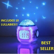 Kids Baby Bedroom Cot Mobile Nightlight-Show Star Projector Musical Lullaby PC01
