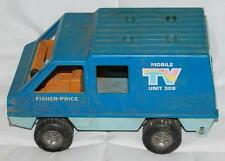 "9.5"" VINTAGE 1977 FISHER PRICE TV VAN UNIT 309"