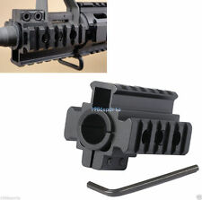 "New Weaver Picatinny 7/8"" 20mm Tri-Rail Barrel mount For Rifle scope Lights H06"