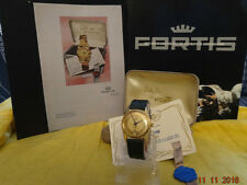NOS 1955 FORTIS EDEN ROC DATE AUTOMATIC RED ETA 2452 RGP20M BOX BAND GARANTI TAG
