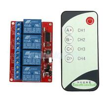 DC 24V 4CH Channel Wireless RF Remote Control Learning Relay Module