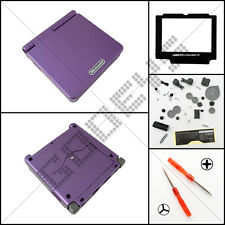 New Purple Nintendo Game Boy Advance SP GBA Casing/Case/Shell/Housing DIY Kit
