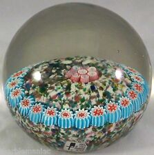 Magnum Millefiori Glass Paperweight Made in Murano Italy Sparkling Goldstone