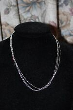 GENUINE LINKS OF LONDON STERLING SILVER ESSENTIALS THREE ROW BEAD NECKLACE 45CM