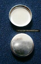 2 Bezel cups sterling silver 10mm round machine made plain edge bezel cup bc010
