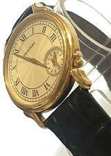 Excellent mint condition Men's Tourneau Swiss Quartz 18K solid gold watch