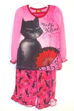 Puss in Boots Girls 2 Piece Pajama Set Sleepwear Size 4  NWT