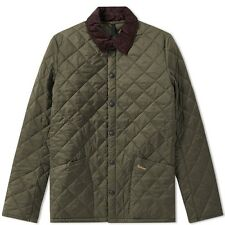 Barbour Heritage Liddesdale Diamond Quilted Green Olive  Jacket Men's Size Large