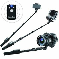 "100% Pro Selfie Stick,MonoPod Extend 49"", Bluetooth, iPhone, GoPro, Android,DSLR"