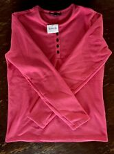 Women's Lands End Pullover Henley Size S. NWT  Spiced Rhubarb