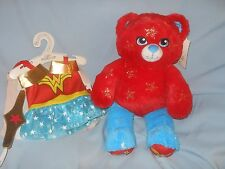 """Build a Bear 16"""" Wonder Woman With Outfit Headband Wristbands NWT!"""