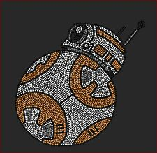 Star Wars BB-8 Inspired Fan Art Rhinestone Iron On Transfer Hot Fix Bling
