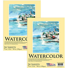 "9"" x 12"" Heavy-Weight Watercolor Painting Paper Pad 90lb (190gsm) 24-Sheets"