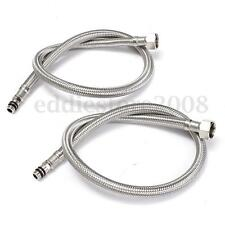 2Pcs 24''Length Line Pipe 3/8'' Stainless Steel Flexible Faucet Braided Hose Tap