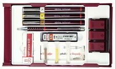 Rotring Rapidograph College 3 Pen Set with Pen Stand Station - 0.25, 0.35, 0.5mm