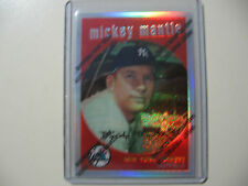 1996 Topps Finest Refractor Ref. Mickey Mantle reprint of 1959 Topps