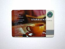2002 STARBUCKS CLASSIC CORE COLLECTABLE GIFT CARD