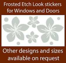 FLOWER FRANGIPANI FROSTED ETCH GLASS SAFETY DOOR WINDOW STICKERS
