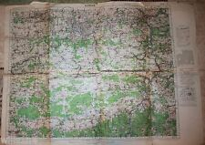 WWII US Army 29th original field used Division Field Map Namur Belgium 1943