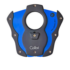 Colibri Cigar Cutter Monza Black & Blue Rubber 62 Ring Gauge Luxury Gift Boxed