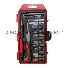 KING 16 pc Craft Hobby Knife Set, w/ Exacto Precision Cutting Blades & Tweezers