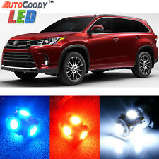 13 x Premium Xenon White LED Lights Interior Package Kit for Toyota Highlander